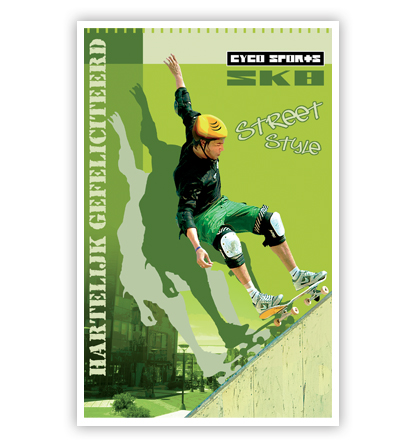 Dubbele kaart - Skater
