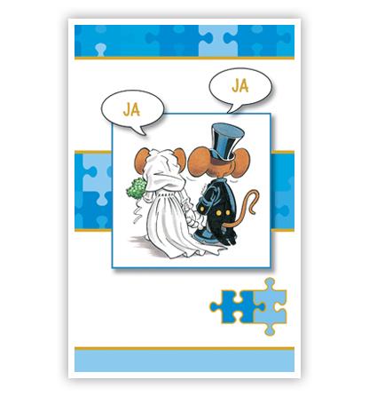 Dubbele kaart - Muizen geven het jawoord