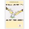 Dubbele kaart - Twee giraffen met hartjes bij een ei