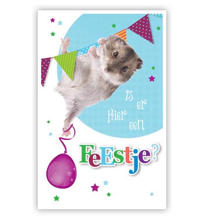 Hamster Hangend Aan Slinger Primeurcards